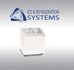 CURVE GLASS SLID TOP ICE CREAM FREEZER CHEST