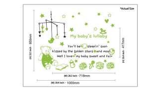 & Teddy Bear Nursery Kids Wall Decor Art STICKER Vinyl DECAL