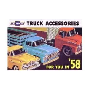 1958 CHEVROLET TRUCK Accessories Sales Brochure Book