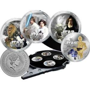 2011 Star Wars   Millennium Falcon 4 Coin 1oz Silver Proof Coin Set