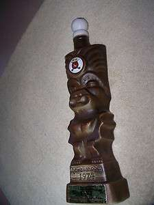 Jim Beam DECANTER BARWARE UNITED AIRLINES Hawaiian Open 1974 Golf Tiki
