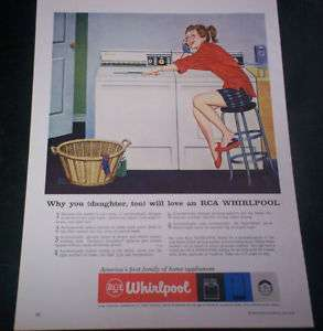 1959 Ad RCA Whirlpool You Daughter Love Washer Dryer