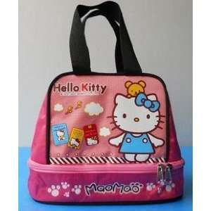 Very Cute Blue Hello Kitty Style Tote Lunch Bag Kitchen