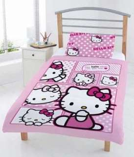 HELLO KITTY COMIC JUNIOR COT BED DUVET QUILT COVER SET
