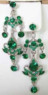 e46 Emerald Green Chandelier Swarovski Crystal Earrings