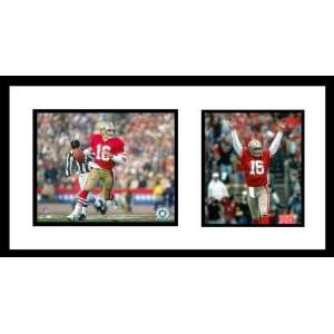 Joe Montana San Francisco 49ers NFL Double Framed