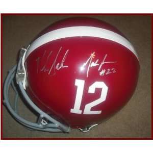 University of Alabama Nick Saban and Mark Ingram Signe