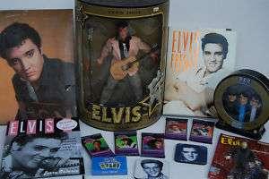LOT  1993 Elvis Teen Idol Doll,PEZ Disp,Elvis Cards +