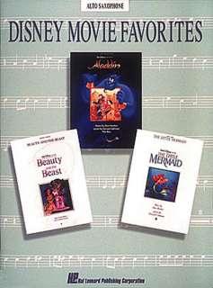 Disney Movie Favorites   Alto Sax Saxophone Music Book