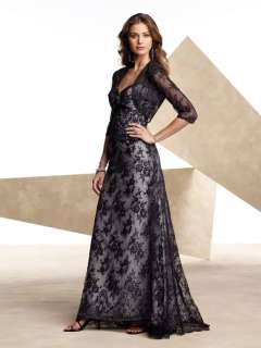 Black Lace Wedding/Evening dress Formal Gown