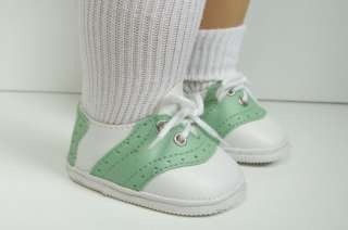 LT GREEN Saddle Oxford Doll Shoes FOR American Girl♥