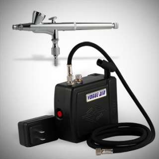 New GRAVITY FEED AIRBRUSH with AIR BRUSH COMPRESSOR KIT