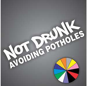 Avoiding Potholes Sticker Decal JDM Vinyl illest Drift Rally Honda Car