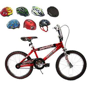Out Red 20 Boys BMX Bike & Helmet Value Bundle