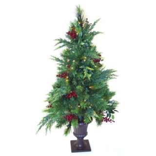 ft. Estate Pre lit LED Potted Tree   Battery Operated Christmas Decor
