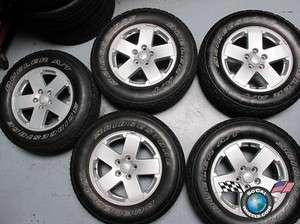 Five 07 12 Jeep Wrangler Factory 18 Wheels Tires OEM Rims 9076 255/70