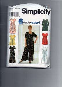 SIMPLICITY PATTERN, WOMENS DRESS,JUMPSUIT,PATTERNS