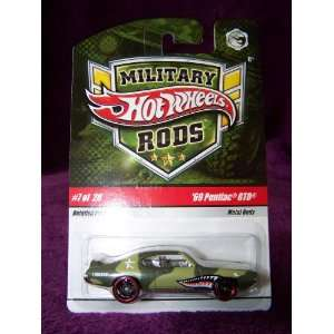 Hot Wheels Military Rods Car #7/26   69 Pontiac GTO Toys & Games