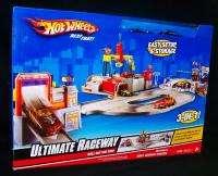New Mattel Hot Wheels Ultimate Raceway 2 Cars Play Set Race Track 3 In