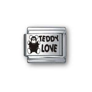 Body Candy Italian Charms Laser Teddy Love: Jewelry