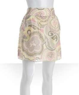 Campaigne light grey silk cotton Lea skirt