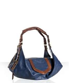 Hayden Harnett blueberry leather Zeus Origami east/west bag
