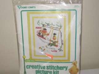 Sesame Street Bert & Ernie Needlepoint Stitchery Kit