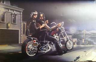 David Mann Art Frisco Night Print Easyriders Harley Davidson HD H D