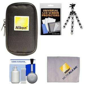 Nikon Coolpix Digital Camera Case + Tripod AW100 L26 S30 S4300 S6300