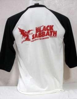Black Sabbath Ozzy Osbourne 3/4 baseball jersey shirt metal tour 38 M