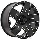 16 inch Ballistic Hyjak black wheels rims 5x5 5x127