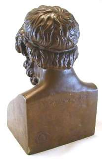 Antique Bronze Bust Sculpture F. Barbedienne Statue Roman Greek 19th