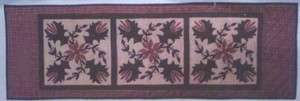 PATTERN TEA DYED QUILTED TABLE RUNNER CHRISTMAS DECOR
