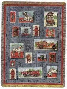 FIRE DEPARTMENT Firefighter FDNY Tapestry Afghan Throw