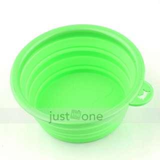 Folding Retractable Silicon Gel Pet Dog Water Food Feeding Bowl