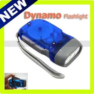 No Battery 3 LED Dynamo Crank Wind Flashlight Torch